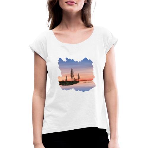 Zomer in Lapland - T-shirt à manches retroussées Femme