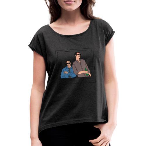 f126 cb - Maglietta da donna con risvolti