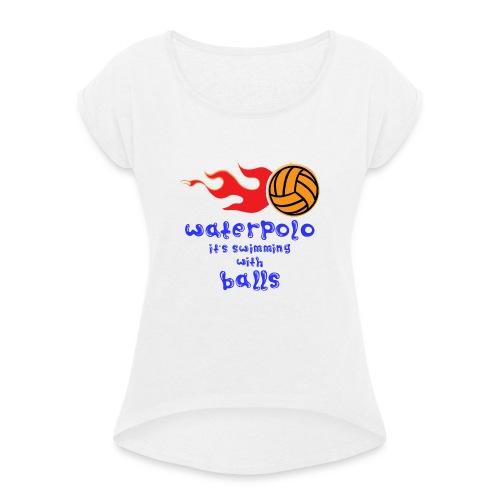 Waterpolo - Maglietta da donna con risvolti