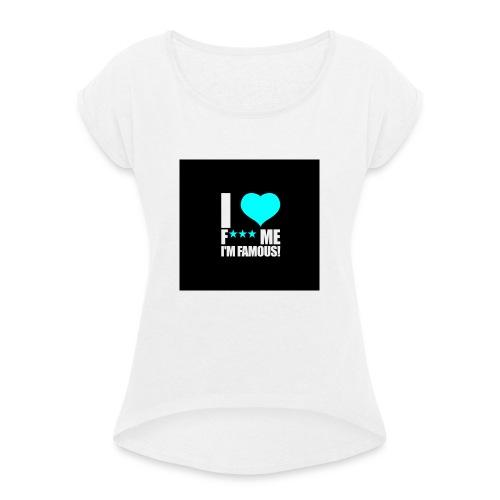 I Love FMIF Badge - T-shirt à manches retroussées Femme