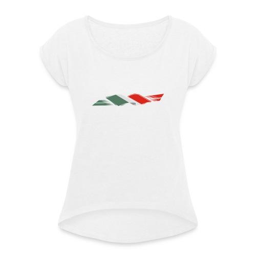 ITALIA BANDIERA - Maglietta da donna con risvolti