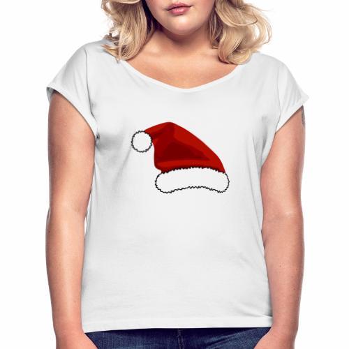 Joulutontun lakki - tuoteperhe - Naisten T-paita, jossa rullatut hihat