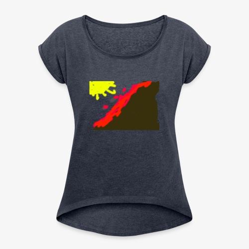 flowers - Dame T-shirt med rulleærmer