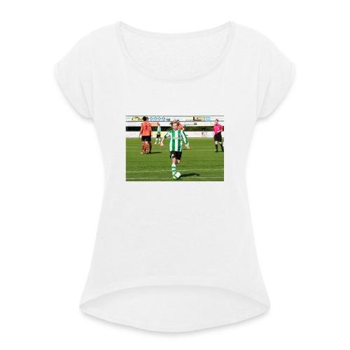 Marcus kijk in de vegte - Vrouwen T-shirt met opgerolde mouwen