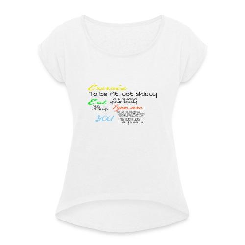 Excersice - T-skjorte med rulleermer for kvinner