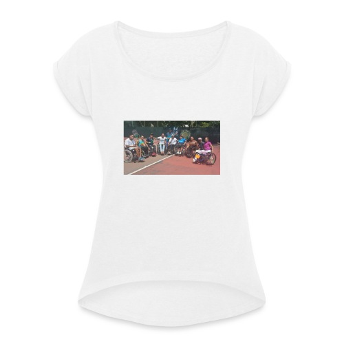 guaramo9 - Camiseta con manga enrollada mujer