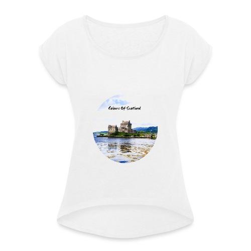COLOURS OF SCOTLAND - T-shirt à manches retroussées Femme