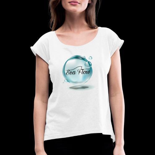 abbigliamento e tazze logo Sea Flow Bolla - Maglietta da donna con risvolti