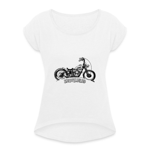 0917 chopper shovelhead - Vrouwen T-shirt met opgerolde mouwen
