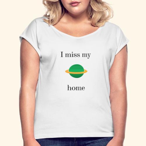 nieziemsko - Koszulka damska z lekko podwiniętymi rękawami