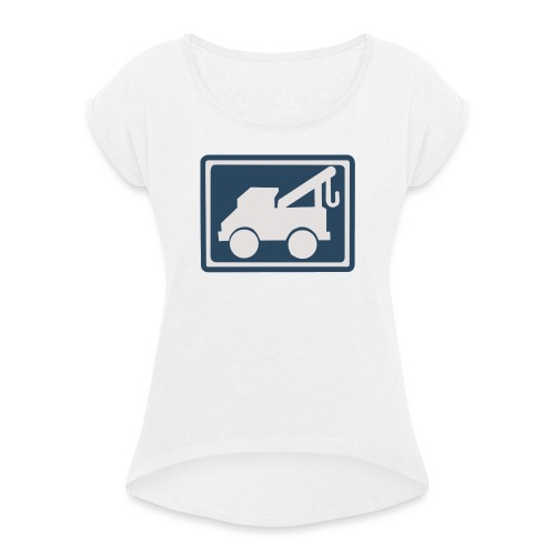 Mechanic hat - Camiseta con manga enrollada mujer