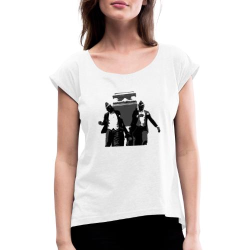 Coffin Meme - 2 - Women's T-Shirt with rolled up sleeves
