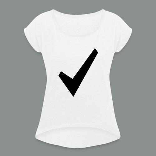 spunta nera - Maglietta da donna con risvolti