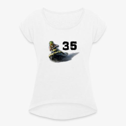 jetski35 - Naisten T-paita, jossa rullatut hihat