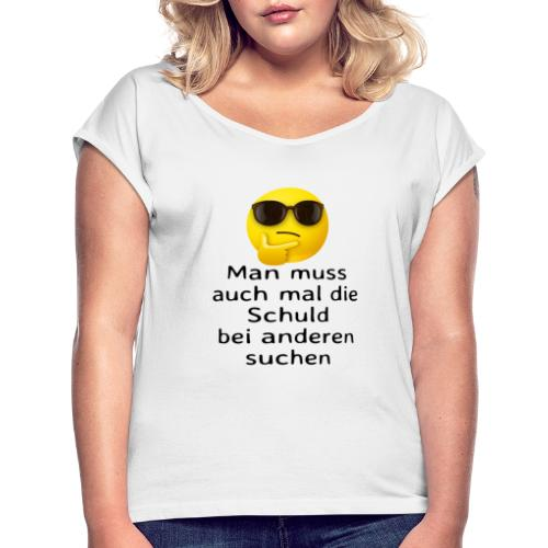 Schuld - Frauen T-Shirt mit gerollten Ärmeln