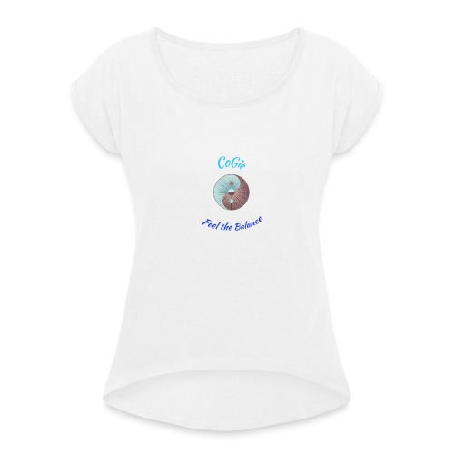CoGie, Feel the Balance - Women's T-Shirt with rolled up sleeves