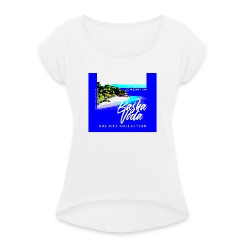 BASKA VODA CROATIA - Koszulka damska z lekko podwiniętymi rękawami