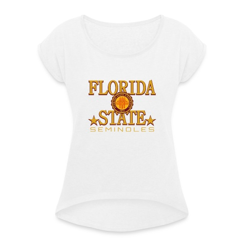 florida state univercity merch t shirt - Women's T-Shirt with rolled up sleeves