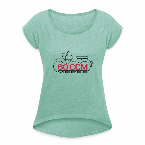 Moped Star 60 ccm Emblem - Women's T-Shirt with rolled up sleeves
