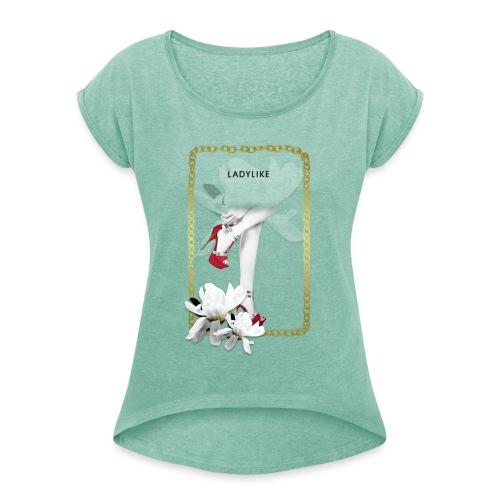 ladylike - Maglietta da donna con risvolti