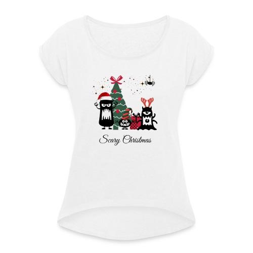 Noël effrayant - Scary Christmas - T-shirt à manches retroussées Femme