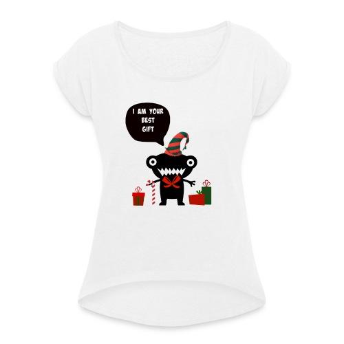 Meilleur cadeau - Best Gift - T-shirt à manches retroussées Femme