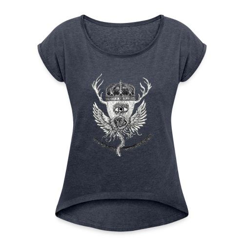 iSeeYou - T-shirt med upprullade ärmar dam