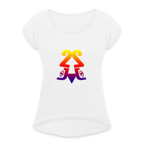 2J_LOGO_Beach - Dame T-shirt med rulleærmer