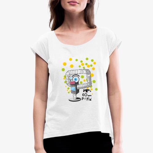 robbo - Koszulka damska z lekko podwiniętymi rękawami