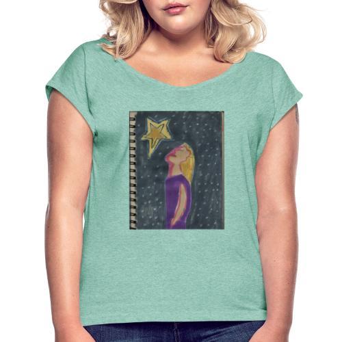 La estrella - Camiseta con manga enrollada mujer