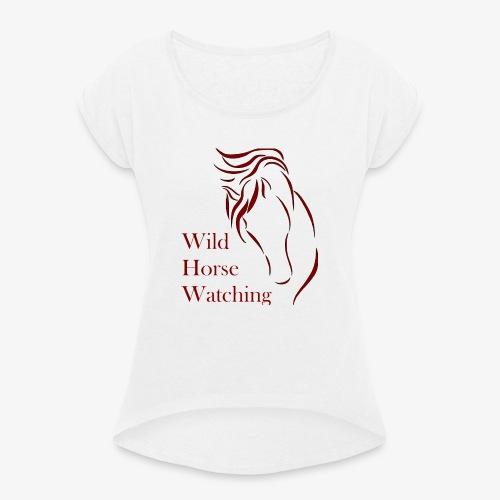 Logo Aveto Wild Horses - Maglietta da donna con risvolti