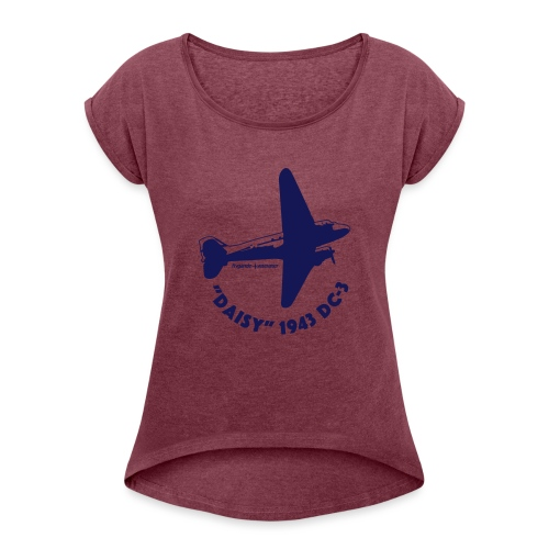 Daisy Flyover 1 - T-shirt med upprullade ärmar dam