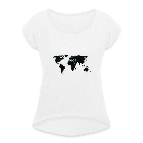 World - Dame T-shirt med rulleærmer