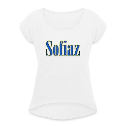 Sofiaz - T-shirt med upprullade ärmar dam
