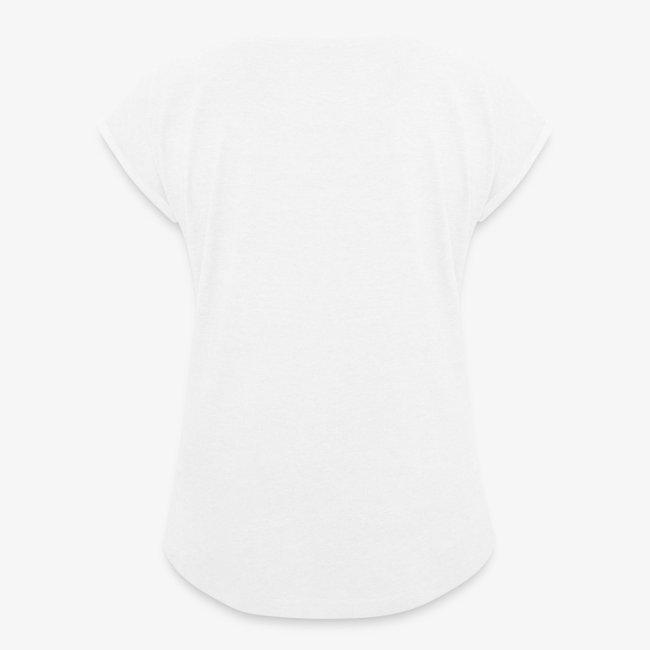 Vorschau: simple woman horse - Frauen T-Shirt mit gerollten Ärmeln