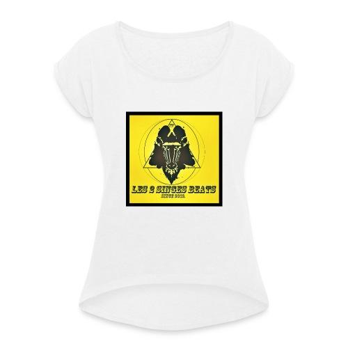 LES 2 SINGES BEATS - T-shirt à manches retroussées Femme