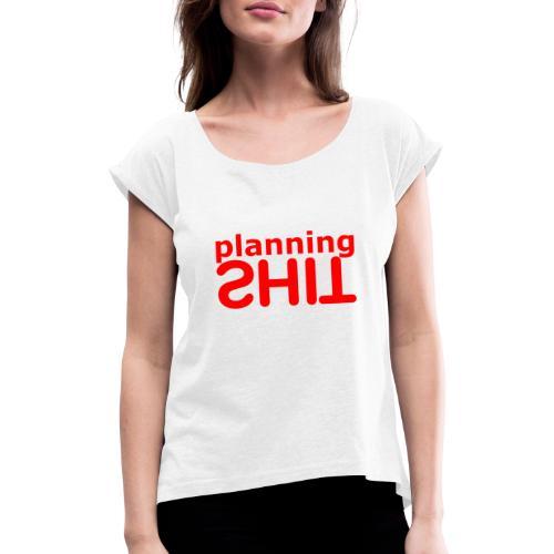PLANNING - Camiseta con manga enrollada mujer