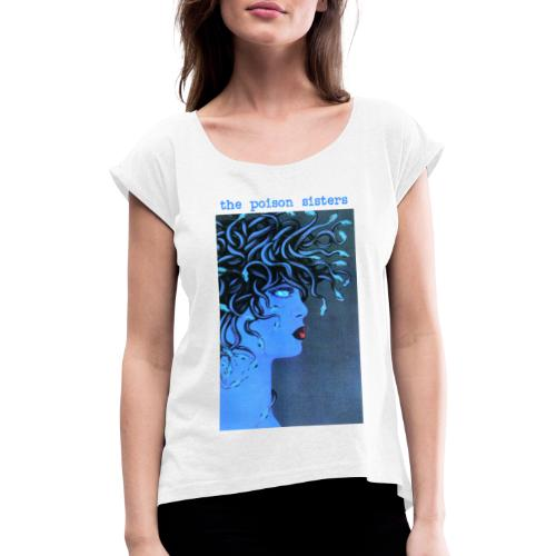 Medusa Blue - Women's T-Shirt with rolled up sleeves