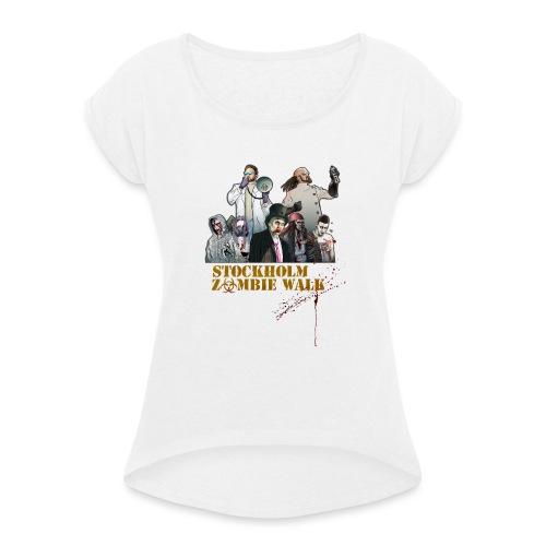 Stockholm Zombie Walk 2016 - Baseball S/V Herr - T-shirt med upprullade ärmar dam