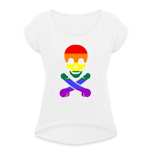 pimmelpirat - Frauen T-Shirt mit gerollten Ärmeln