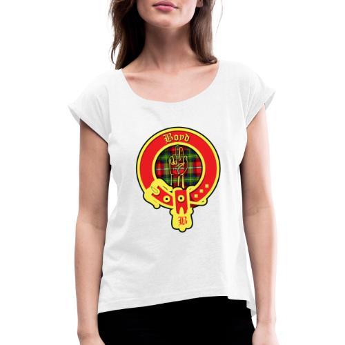 boyd logo - Frauen T-Shirt mit gerollten Ärmeln