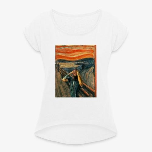 Death Grips Scream - T-shirt med upprullade ärmar dam