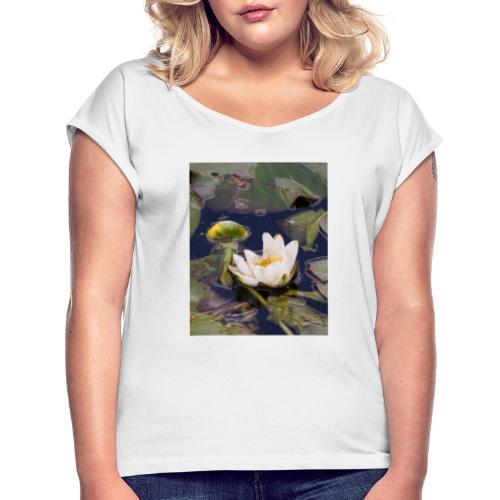 Seerose - Frauen T-Shirt mit gerollten Ärmeln