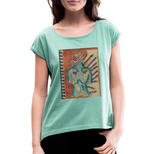 Las flechas que se van - Camiseta con manga enrollada mujer