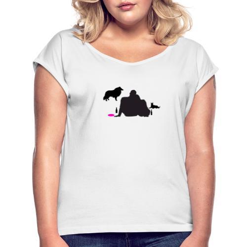 Bright New - Frauen T-Shirt mit gerollten Ärmeln