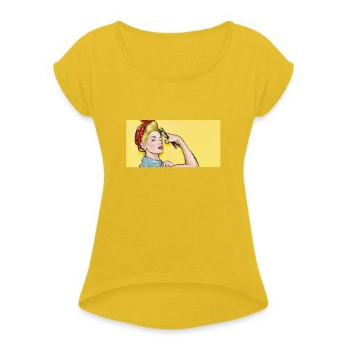 Women Power T-shirt - T-shirt à manches retroussées Femme