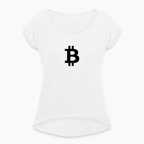 Bitcoin Adoption - Frauen T-Shirt mit gerollten Ärmeln