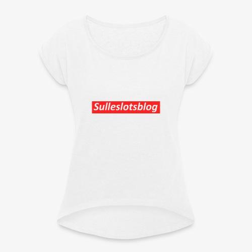 Box logo - Dame T-shirt med rulleærmer