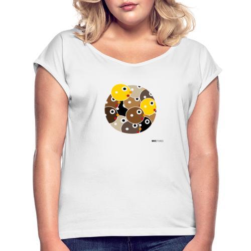 WIO SKIN COLOR - Camiseta con manga enrollada mujer