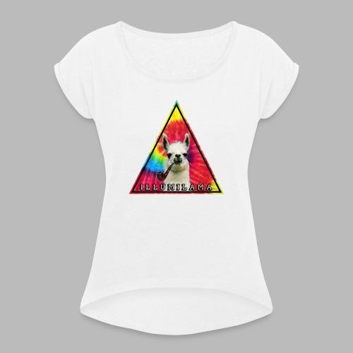 Illumilama logo T-shirt - Women's T-Shirt with rolled up sleeves